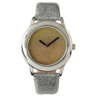 Gold Spiral Pattern Watch