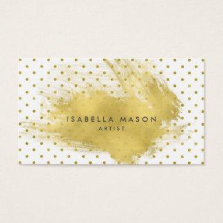 Gold Splatter Business Card