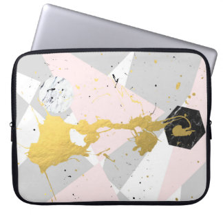 Gold Splatter Laptop Sleeve
