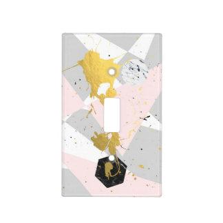 Gold Splatter Light Switch Cover
