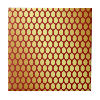 Gold Spots On Red Tile