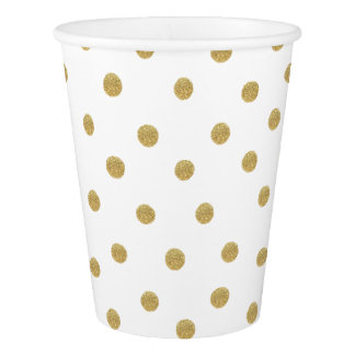 Gold Spots Paper Cups