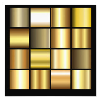 Gold Square Pattern Print Collage