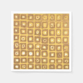 Gold Squared Napkin Disposable Napkins