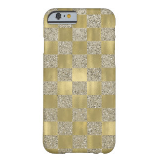 Gold Squares Barely There iPhone 6 Case