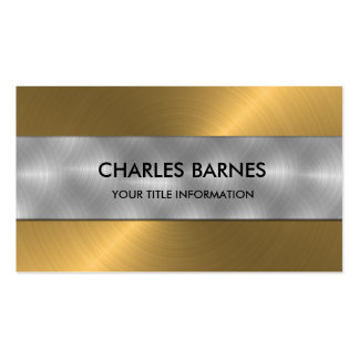 Gold Stainless Steel Business Card