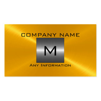 Gold Stainless Steel Metal Business Cards