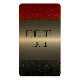 Gold Stainless Steel Metal Hole Pack Of Standard Business Cards