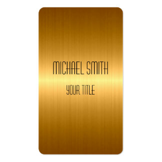 Gold Stainless Steel Metal Pack Of Standard Business Cards