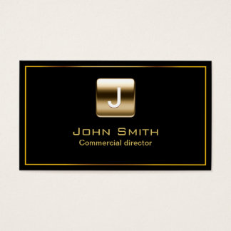 Gold Stamp Commercial Director Dark Business Card
