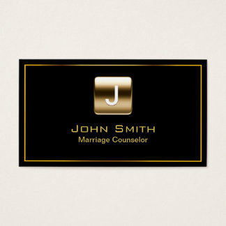 Gold Stamp Marriage Counseling Business Card