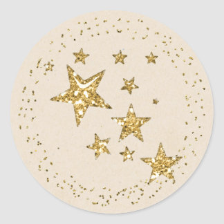 Gold Star Christmas Sticker