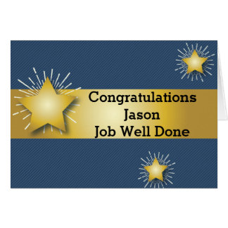 Gold Star Congratulations Card