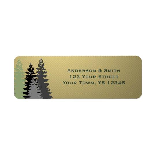 Gold Star Corporate Business Holiday Address Return Address Label