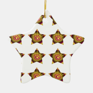 GOLD STAR Decorations: Art NAVIN Joshi lowprice Ceramic Star Ornament