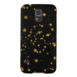 Gold Star Faux Foil Sequin Background Stars Design Cases For Galaxy S5