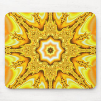 Gold Star Fractal Mousepad