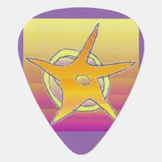 Gold Star Guitar Picks with Lilac Back Guitar Pick