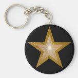 Gold Star keychain black
