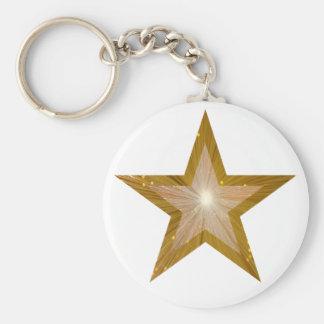 Gold Star keychain white