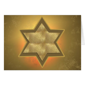 Gold Star of David Bar Mitzvah card