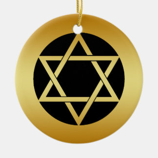 GOLD STAR OF DAVID ORNAMENT