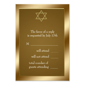 Gold Star of David RSVP Card