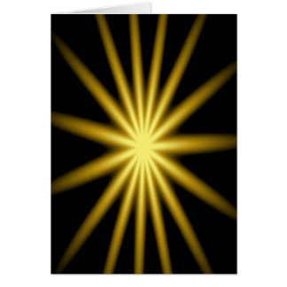 Gold star on black background card