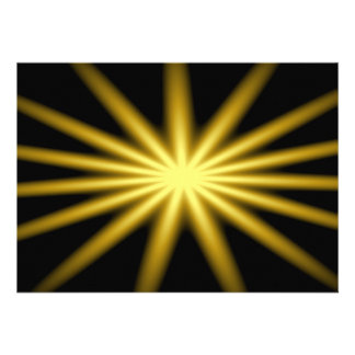 Gold star on black background announcements
