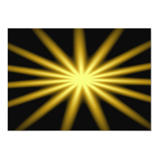 Gold star on black background 5x7 paper invitation card