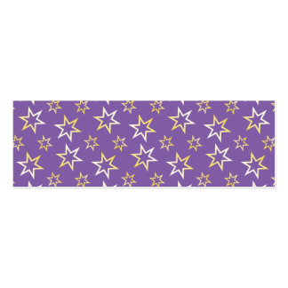 Gold Star Pattern Business Card