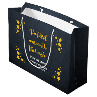 Gold Star Personalized Graduation Large Gift Bag