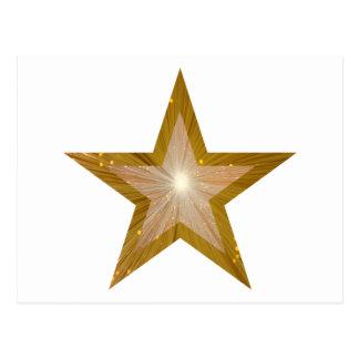 Gold Star postcard white