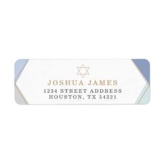 Gold Star Return Address Label