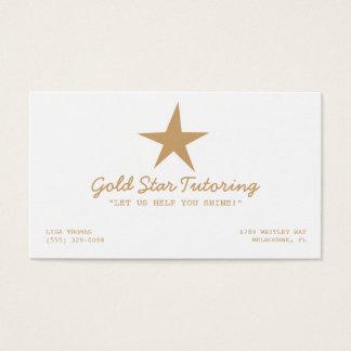 Gold Star Tutoring Business Card