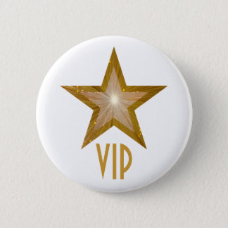 """Gold"" Star 'VIP' button white"