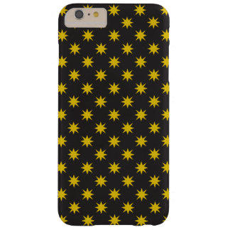Gold Star with Black Background Barely There iPhone 6 Plus Case