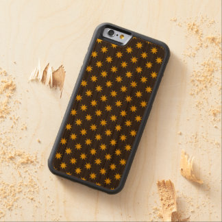 Gold Star with Black Background Carved Cherry iPhone 6 Bumper Case