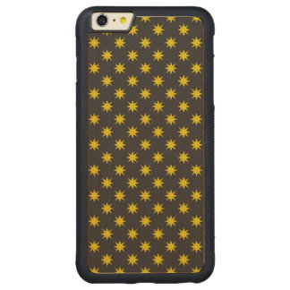 Gold Star with Black Background Carved Maple iPhone 6 Plus Bumper Case