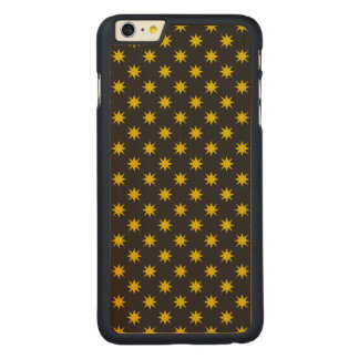 Gold Star with Black Background Carved® Maple iPhone 6 Plus Case