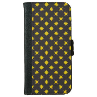 Gold Star with Black Background iPhone 6 Wallet Case