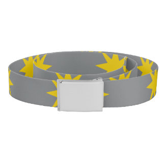 Gold Star with Grey Background Belt
