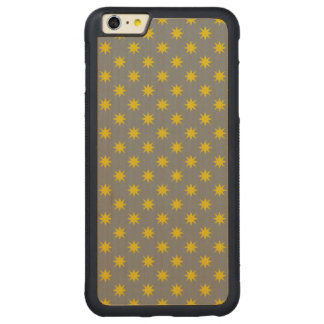 Gold Star with Grey Background Carved Maple iPhone 6 Plus Bumper Case