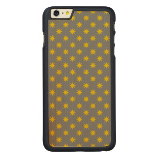 Gold Star with Grey Background Carved Maple iPhone 6 Plus Case