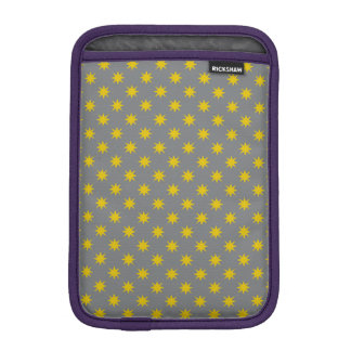 Gold Star with Grey Background iPad Mini Sleeves