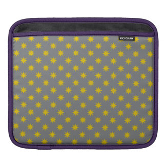 Gold Star with Grey Background iPad Sleeve