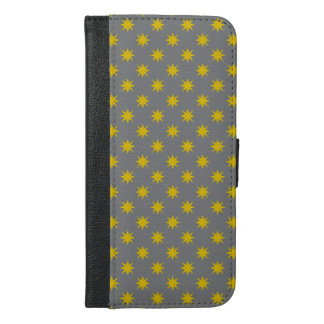 Gold Star with Grey Background iPhone 6/6s Plus Wallet Case