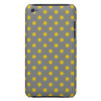 Gold Star with Grey Background iPod Case-Mate Cases