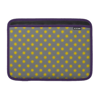 Gold Star with Grey Background MacBook Sleeve