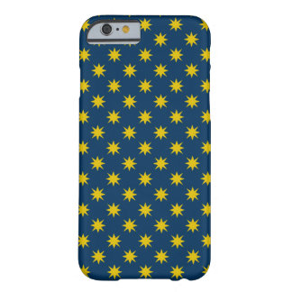 Gold Star with Navy Background Barely There iPhone 6 Case